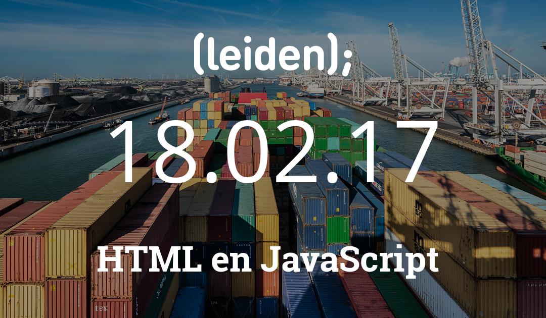 CoderDojo Leiden #33 | Website met HTML en JavaScript