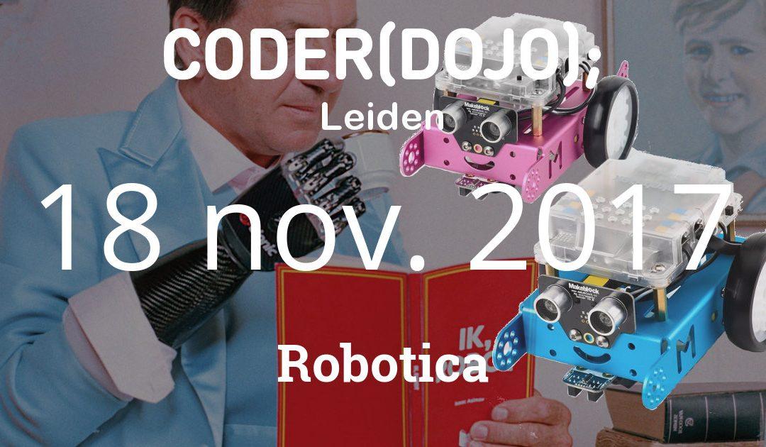 CoderDojo Leiden #42 | Robotica | 18 november 2017