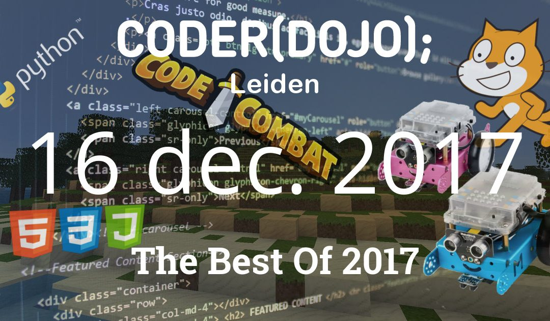 CoderDojo Leiden #43 | The Best Of | 16 december 2017