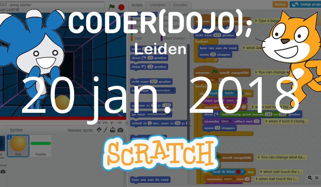 CoderDojo Leiden #44 | Scratch | 20 januari 2018