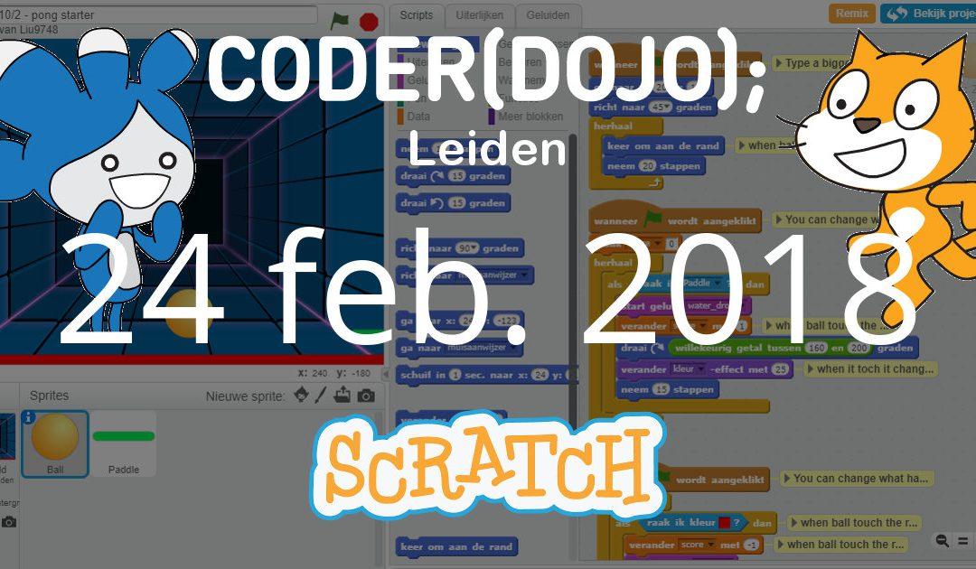 CoderDojo Leiden #45 | Scratch | 24 februari 2018