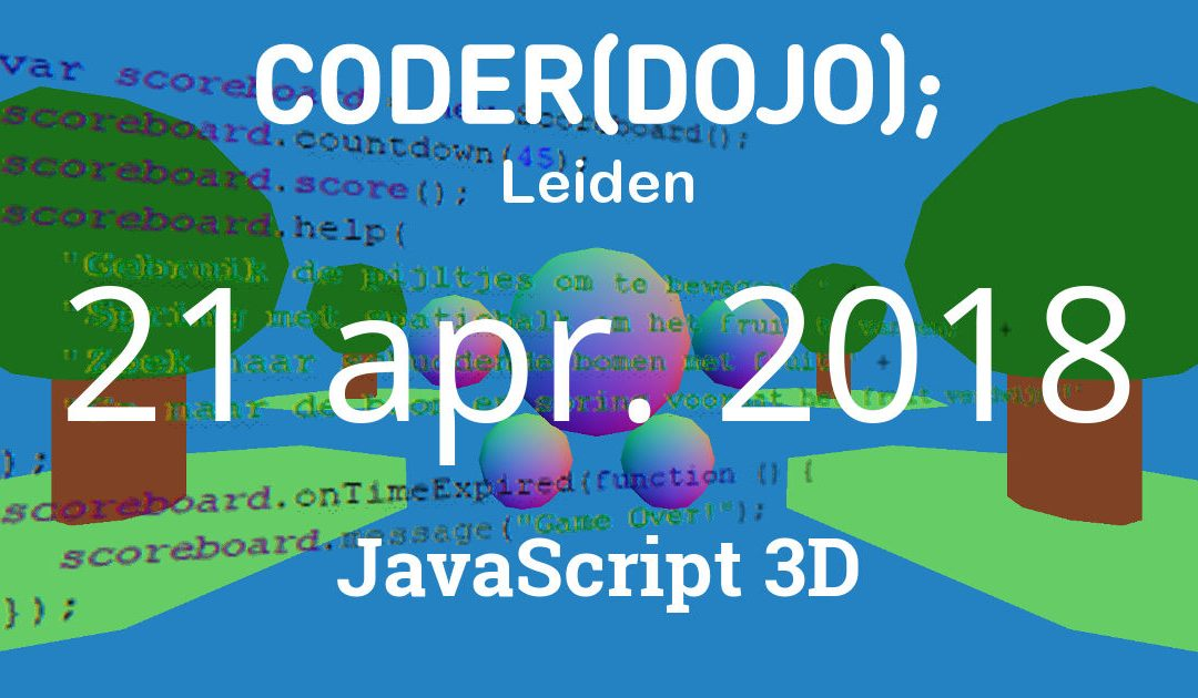 CoderDojo Leiden #47 | JavaScript 3D | 21 april 2018