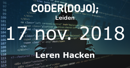 CoderDojo Leiden #54 | Leren Hacken | 17 november 2018