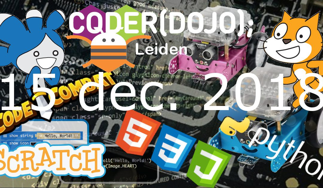 CoderDojo Leiden #55 | The Best Of | 15 december 2018