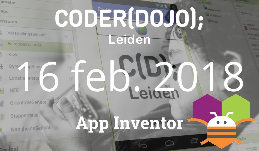CoderDojo Leiden #57 | App Inventor | 16 februari 2019