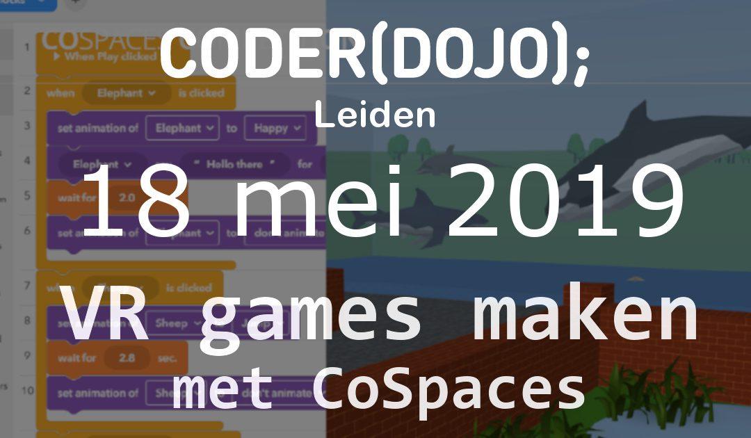 CoderDojo Leiden #60 | VR games maken | 18 mei 2019