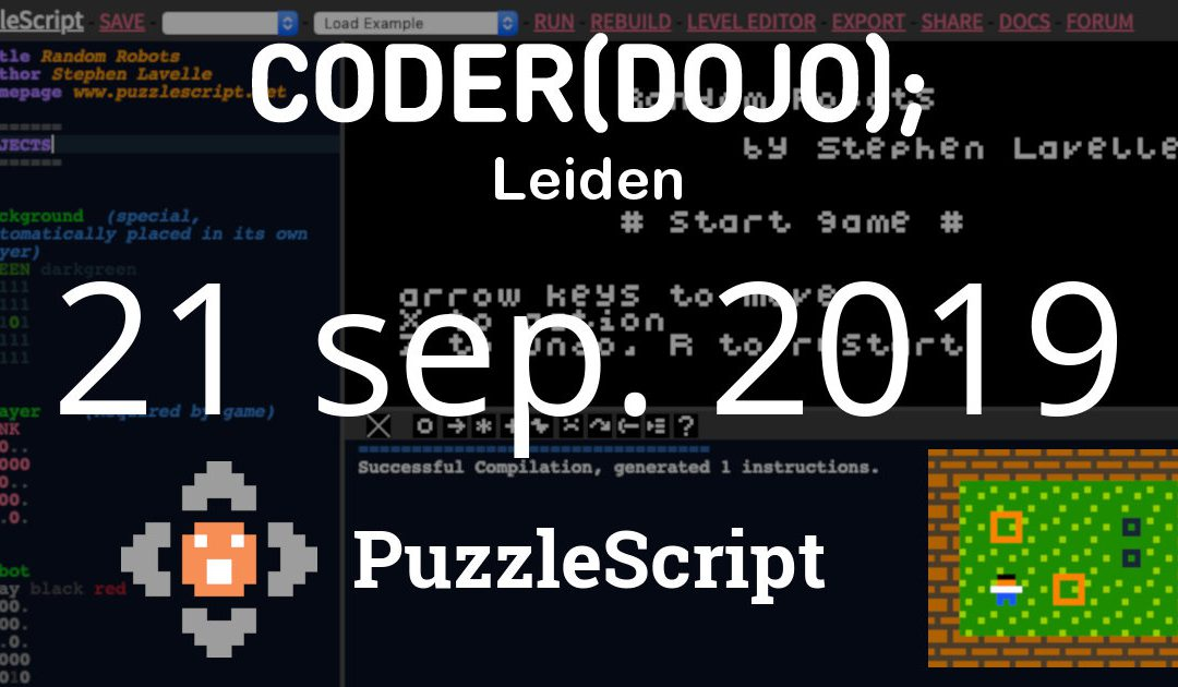 CoderDojo Leiden #63 | Puzzelgames maken | 21 september 2019