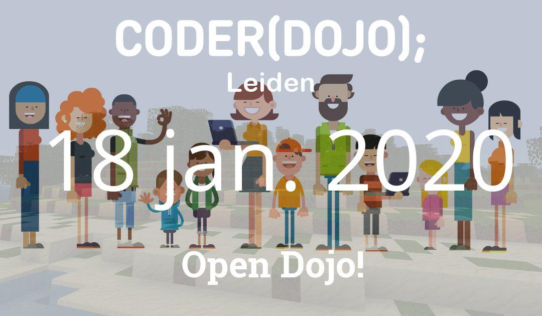 CoderDojo Leiden #67 | Open Dojo | 18 januari 2020