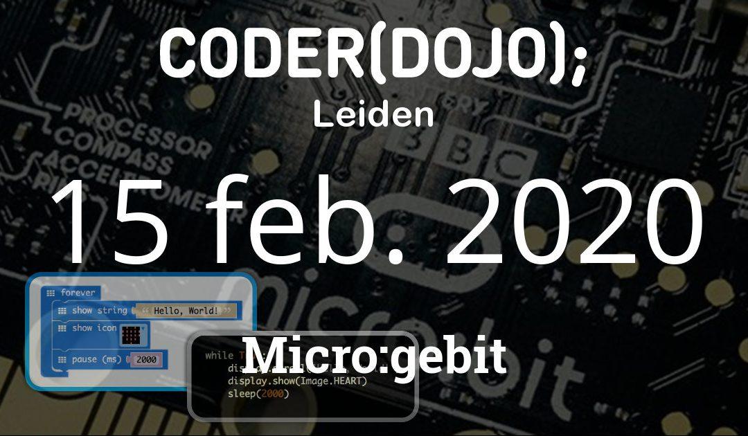 CoderDojo Leiden #68 | Micro:gebit | 15 februari 2020