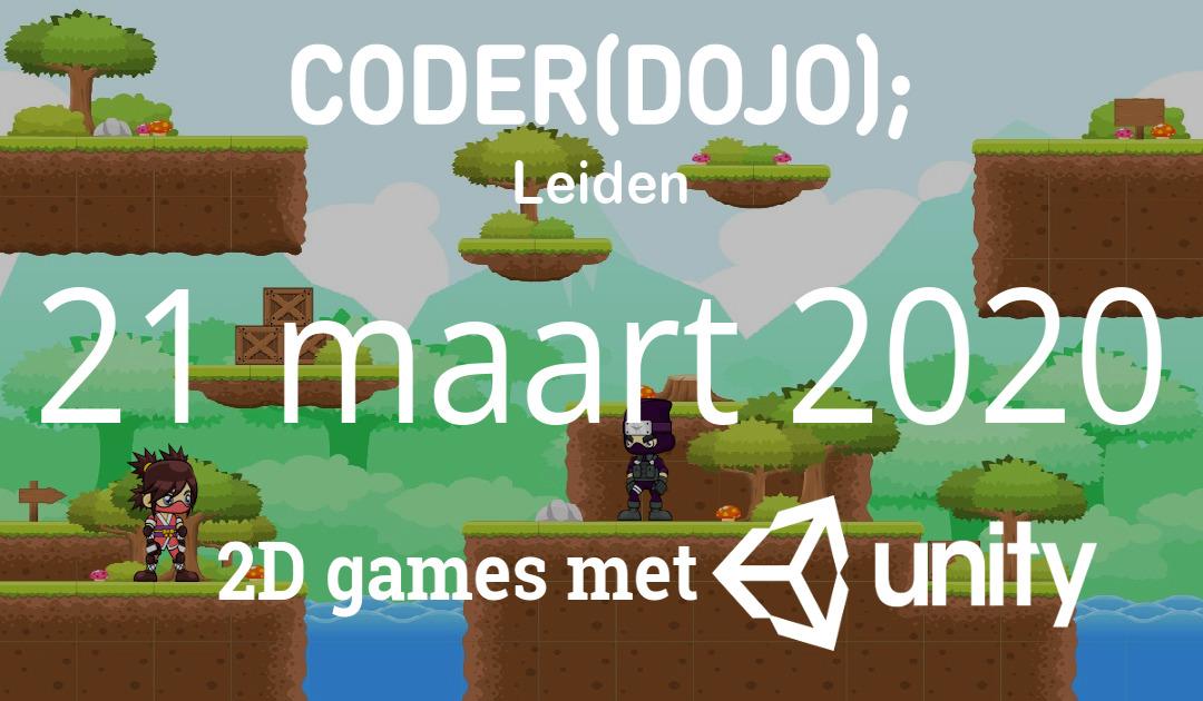 Geannuleerd: CoderDojo Leiden #69 | 2D games met Unity | 21 maart 2020