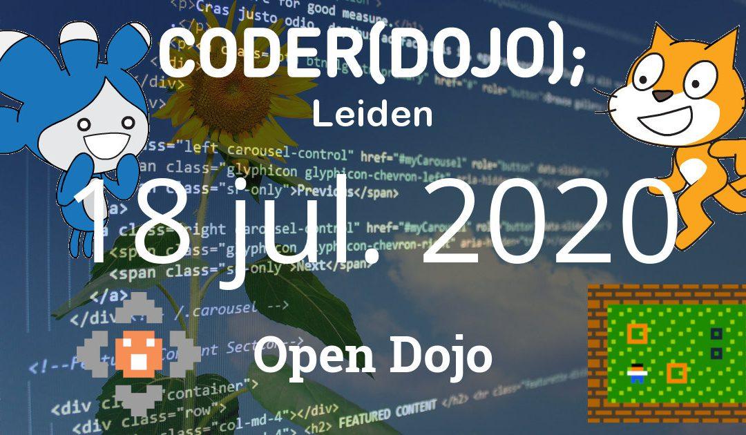 CoderDojo Leiden #69 | Open Dojo | 18 juli 2020