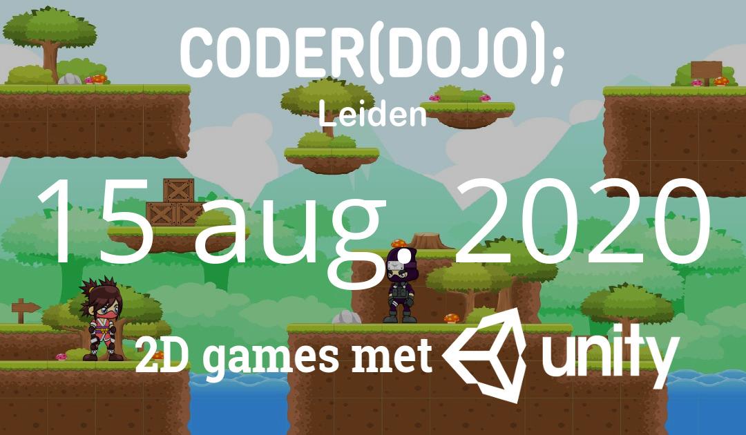 CoderDojo Leiden #70 | 2D games met Unity | 15 augustus 2020